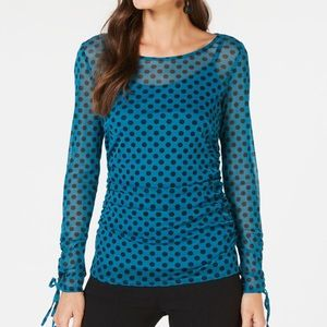 INC International Concepts Ruched Tie Sleeve Top